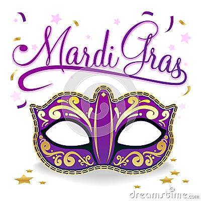Mardi Gras Words And Hat Stock Mardi Gras Clip Art