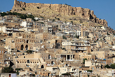 The Mardin Castle with Mardin houses.