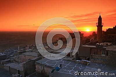 Mardin;Mesopotamia and Sunset
