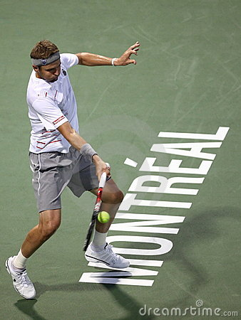 Mardy Fish at Rogers Cup, Montreal, ATP Masters Editorial Stock Image