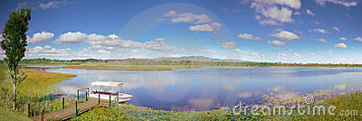 Mareeba wetlands panorama idyllic lake