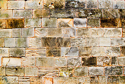 Mares sandstone stone masonry wall in Majorca
