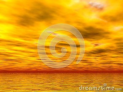 Mares y cielos amarillos
