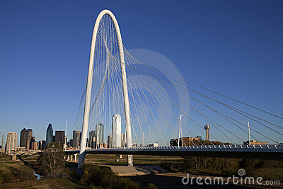 Margaret Hunt Hill Bridge - Dallas Texas Editorial Stock Image
