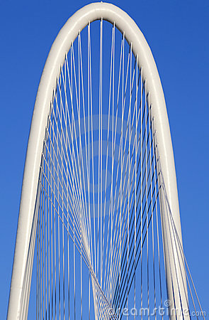 Margaret Hunt Hill Bridge - Dallas Texas Editorial Photography