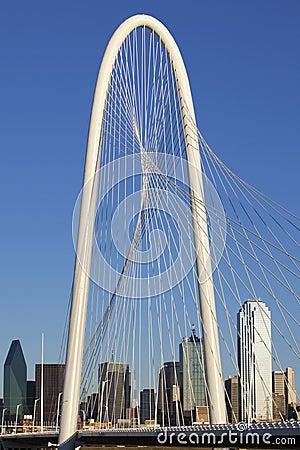 Margaret Hunt Hill Bridge - Dallas Texas Editorial Stock Image