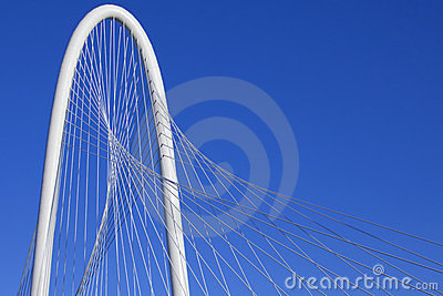 Margaret Hunt Hill Bridge - Dallas Texas Editorial Stock Photo