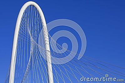 Margaret Hunt Hill Bridge - Dallas Texas Editorial Stock Photo