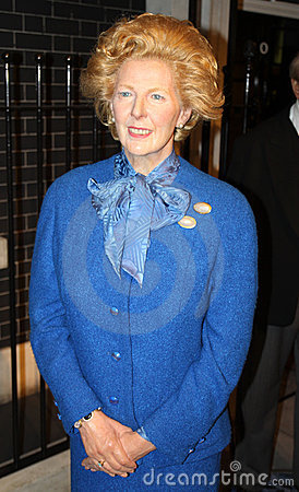 Margaret Thatcher at Madame Tussaud s Editorial Stock Image