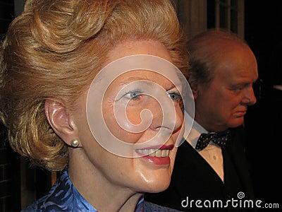 Margaret Thatcher - wax statue Editorial Image