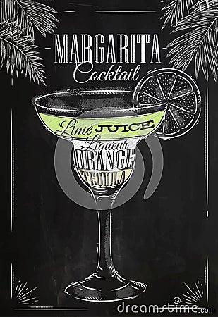 Free Margarita Cocktail Chalk Royalty Free Stock Image - 50266166