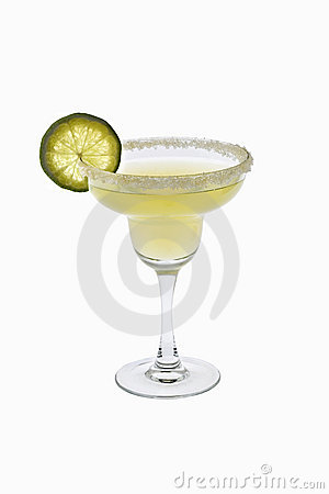 Margarita cocktail on a white background