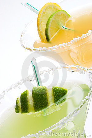 Free Margarita Cocktails Closeup Stock Images - 2211824