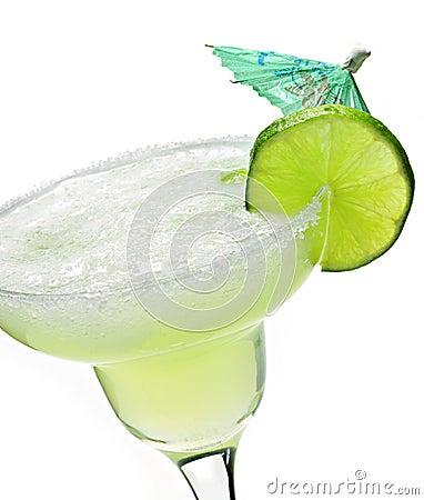 Margarita en un vidrio
