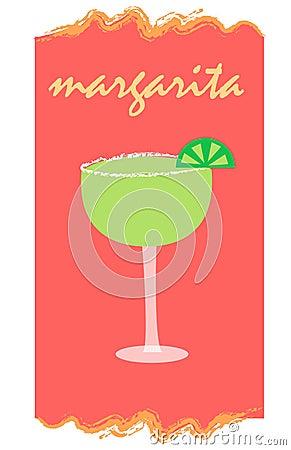 Margarita op rood