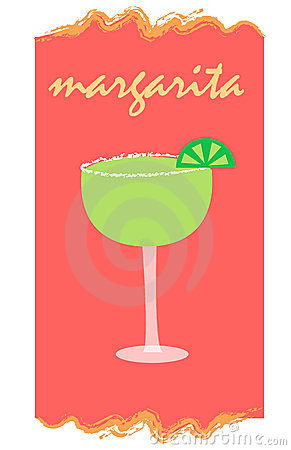 Margarita on red