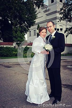 Marié et jeune mariée