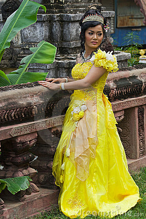 Mariée cambodgienne Photo stock éditorial