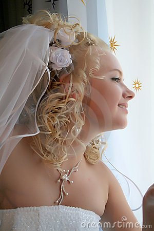 Mariée en attendant le marié