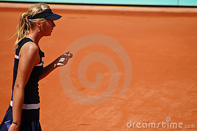 Maria Sharapova during a match at Roland Garros