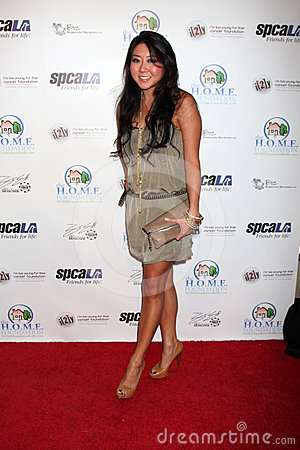 Maria T. Ho arriving at the Celebrity Casino Royale Event Editorial Stock Image