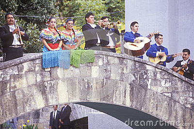 Mariachi band performs for the Clinton/Gore Editorial Stock Photo