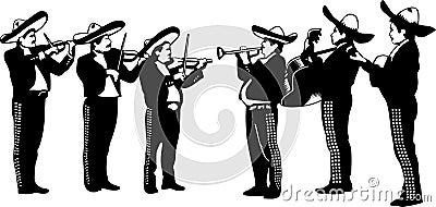 Mariachi Cartoon Playing Trumpet Stock Photo - Image: 15879830
