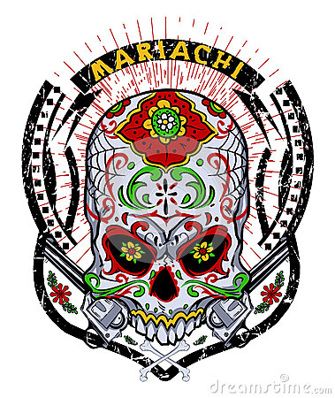 Free Mariachi Skull Stock Images - 30091114