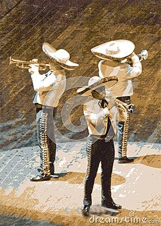 Mariachi, trumpet musicians
