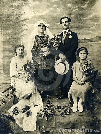 Mariage antique de photo de l original 1925
