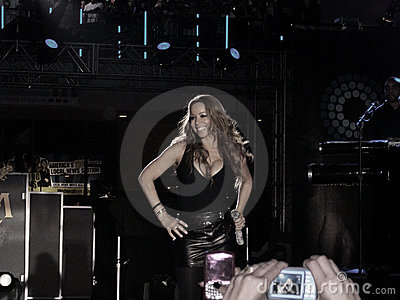 Mariah Carey Performing Editorial Photography