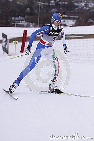 Marianna Longa - cross country skier Editorial Image