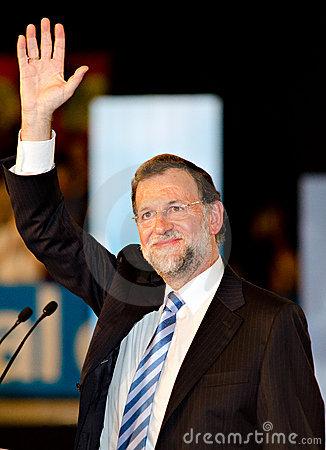 Mariano Rajoy, in L Hospitalet, Spain Editorial Photo
