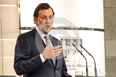 Mariano Rajoy, Prime Minister of Spain Editorial Photo