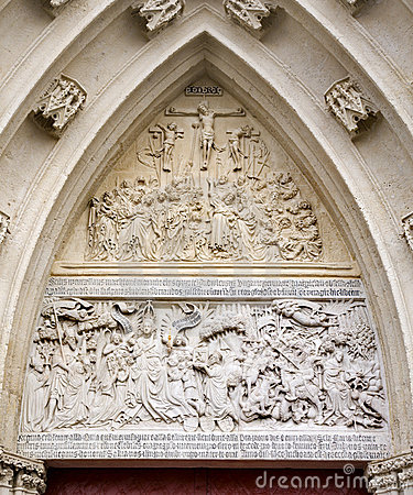 Mariazell - relief from portal of basilica