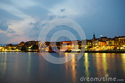 Maribor, Lent and Drava River Editorial Stock Image
