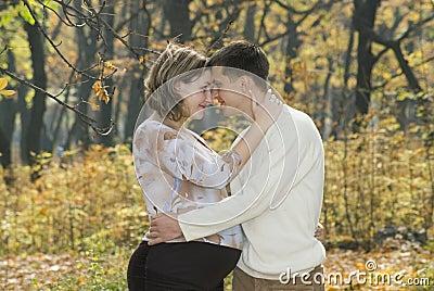 Marido y su esposa embarazada