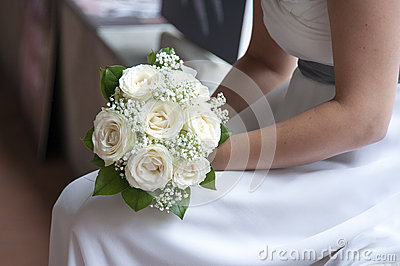 Mariée et bouquet