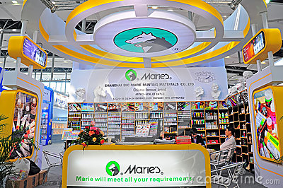 Marie s colors pavillion at canton fair Editorial Stock Image