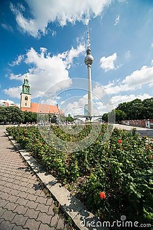 Marienkirche and Fernsehturm, Berlin