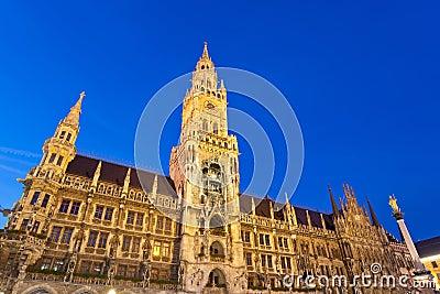 Marienplatz в Мюнхене