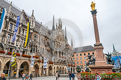 Marienplatz in Munich Editorial Image