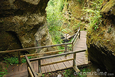 Marienschlucht ravine in summer