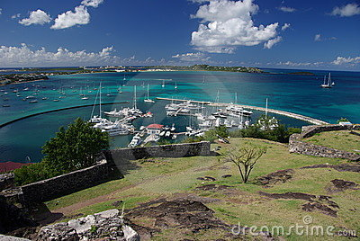 Marigot harbour, Saint Martin, Caribbean