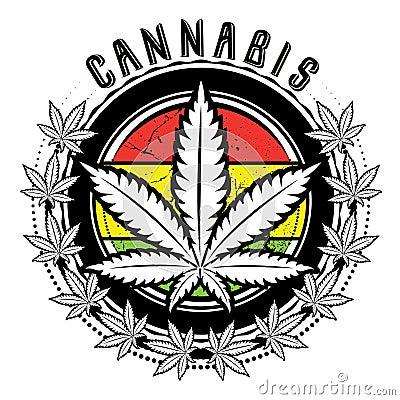 Free Marijuana And Weed Leaf Logo Design  Royalty Free Stock Images - 38977809