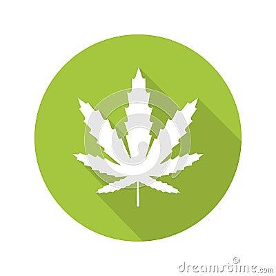 Free Marijuana Leaf Flat Design Long Shadow Icon Stock Images - 79191734