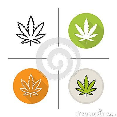 Free Marijuana Leaf Icon Stock Photo - 78546450