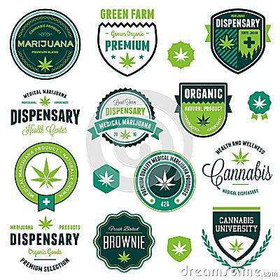Free Marijuana Product Labels Stock Image - 41137631