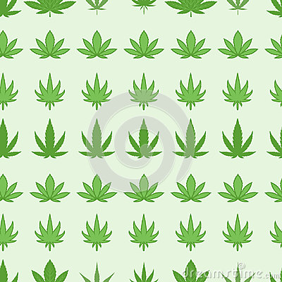 Marijuana seamless pattern vector. Vector Illustration