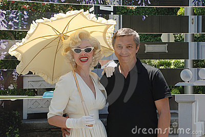 Marilyn Monroe with a man in Universal Studios Editorial Stock Photo